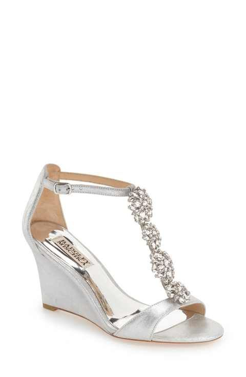 ccedb70a626 Badgley Mischka  Lovely  Embellished Wedge Sandal (Women)
