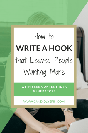 What If Learning How To Improve Just One Aspect Of Your Writing Could Change Everything Writing A Hook One Copywriting Tip Writing Hooks Copywriting Blog Help