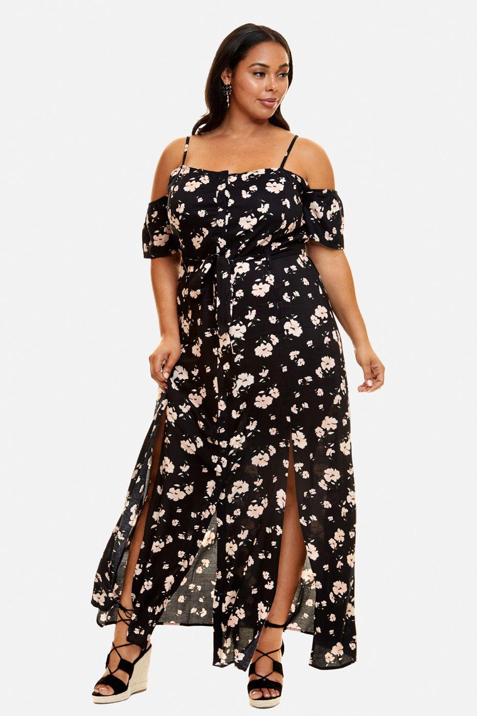 Plus Size Casablanca Floral Maxi Dress   Fashion, Trendy