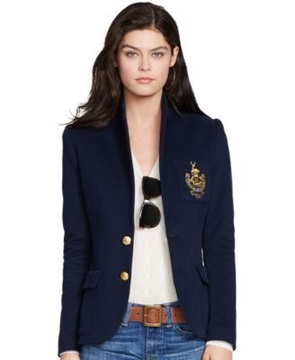 db8cd569a Polo Ralph Lauren Two-Button Emblem Blazer