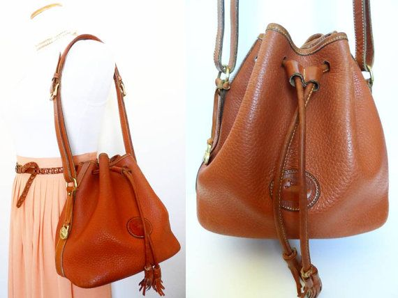 Vintage Dooney & Bourke Bucket Bag Hippie Brown Tan by hanniandmax ...