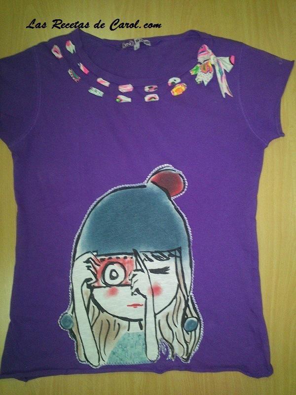 Camisetas recicladas y decoradas. ¡Dales una segunda oportunidad!