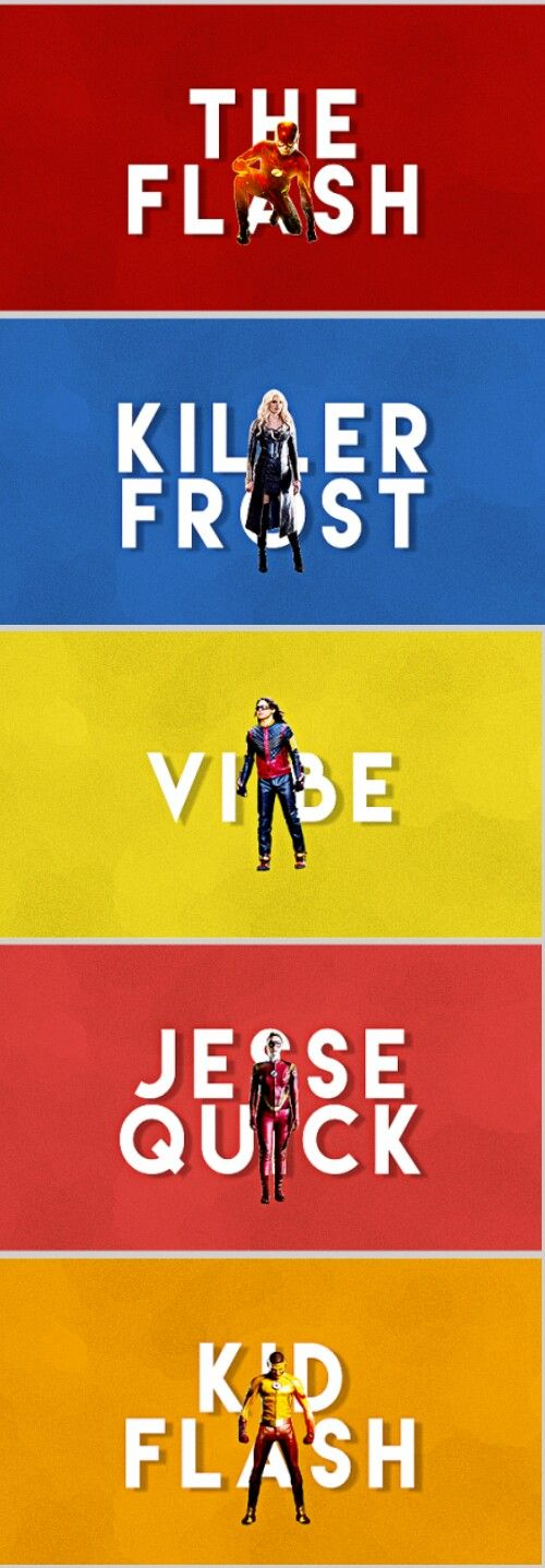 Team Flash | The Flash - Killer Frost - Vibe - Jesse Quick - Kid Flash #season3 #TheFlash #cw