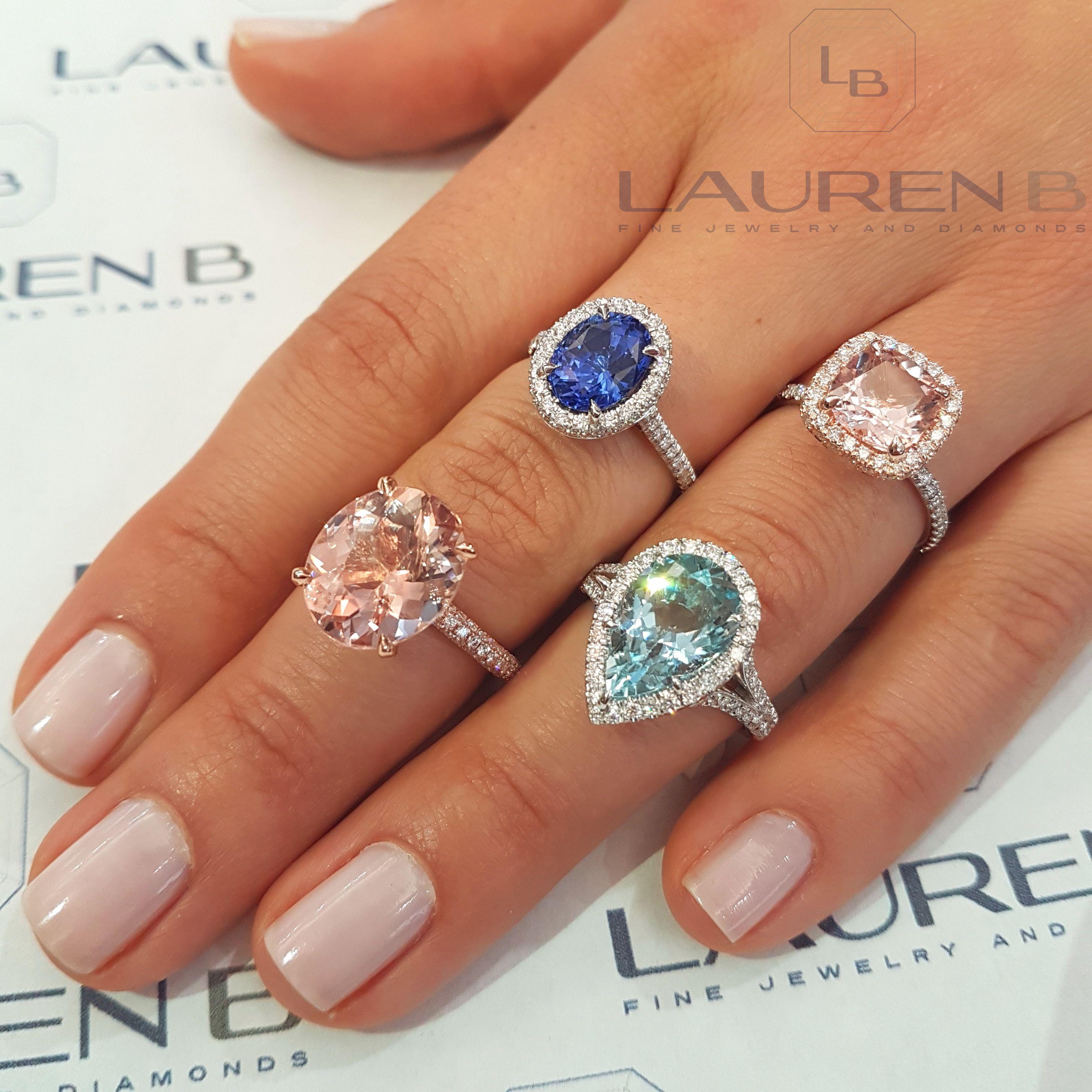 Vibrant semiprecious gemstone and diamond creations from