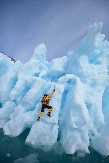 Ice Climbing in Antarctica