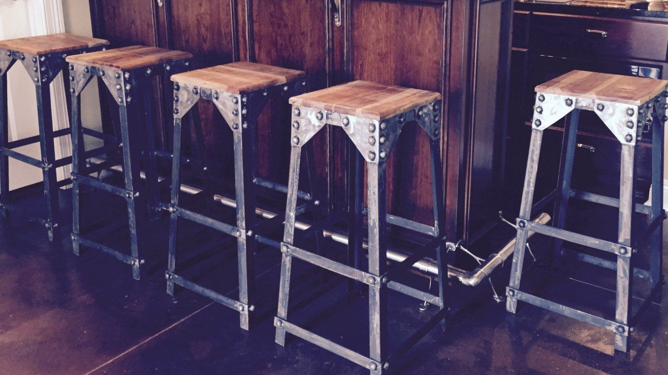 Rustic Stool Industrial Stool Bar Stool Made Of Heavy Duty Steel