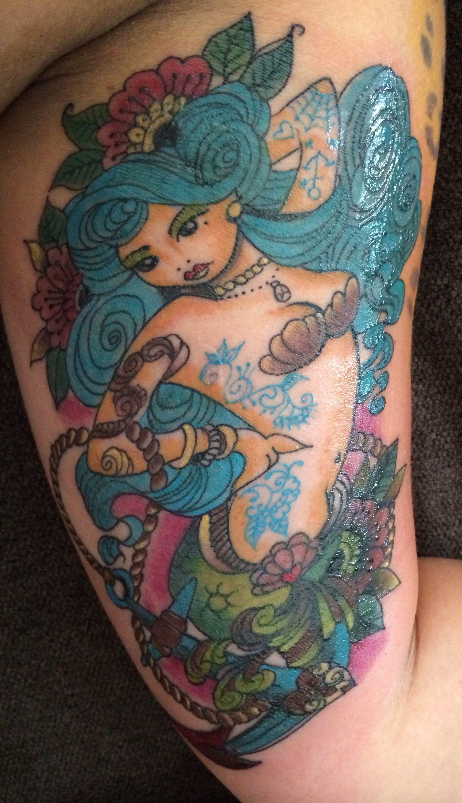 Mermaid pin up