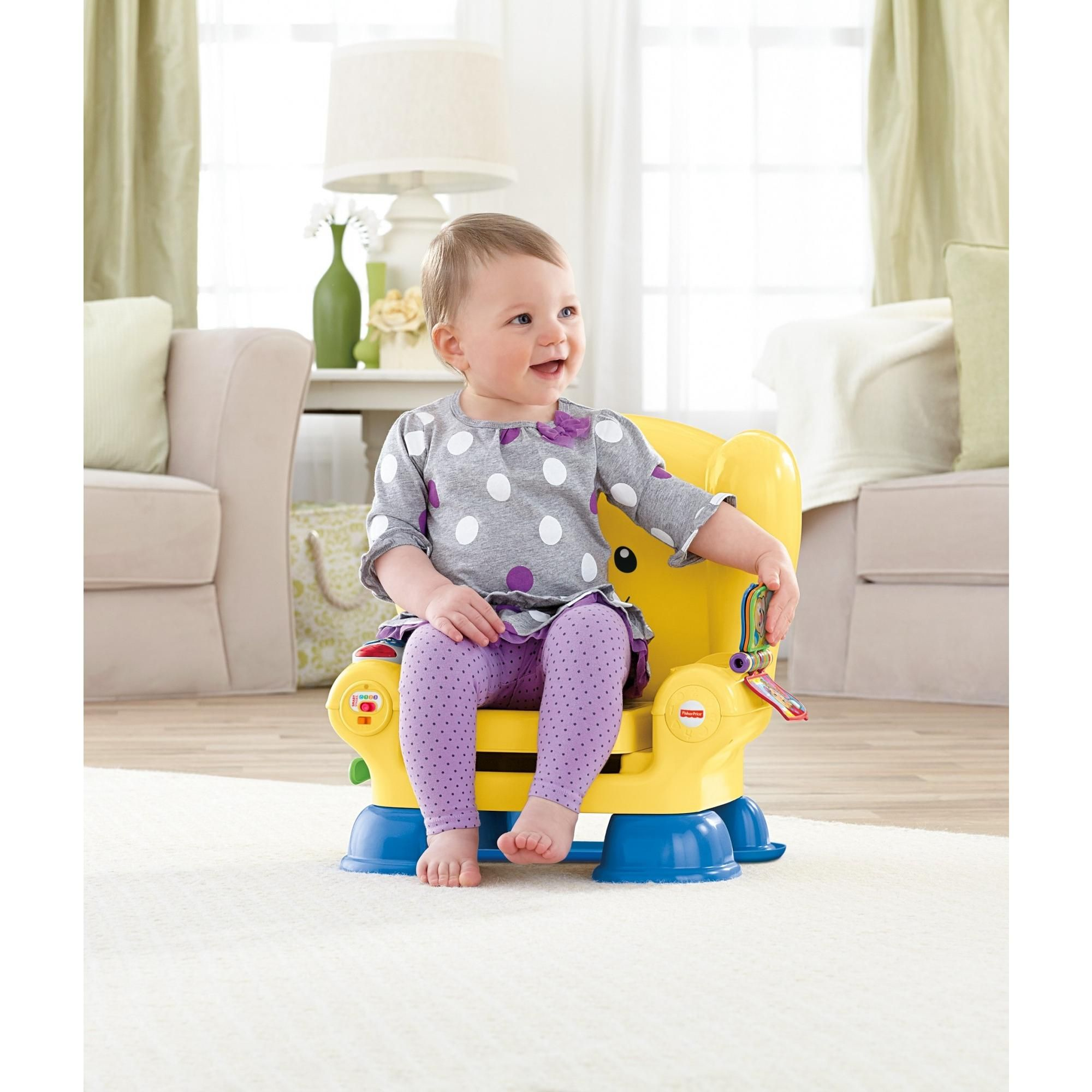 Fisherprice laugh learn smart stages chair yellow abc