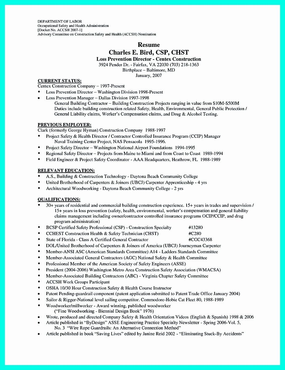 25 Resume Template For Construction In 2020 Job Resume