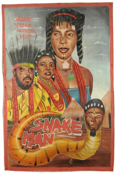 Snake Man Original Ghana Poster Macabro Ganado The Globe
