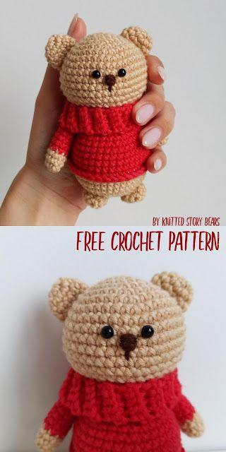 Crochet teddy bear FREE PATTERN - KNITTED STORY BEARS ...