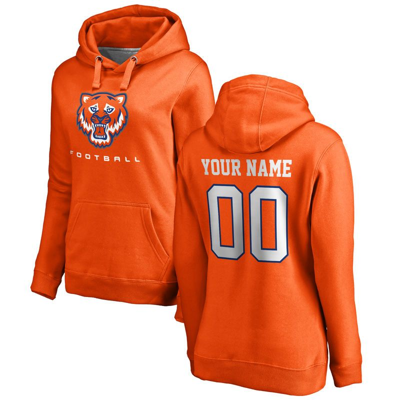 f837231a5d4 Sam Houston State Bearkats Women s Personalized Football Pullover Hoodie -  Orange