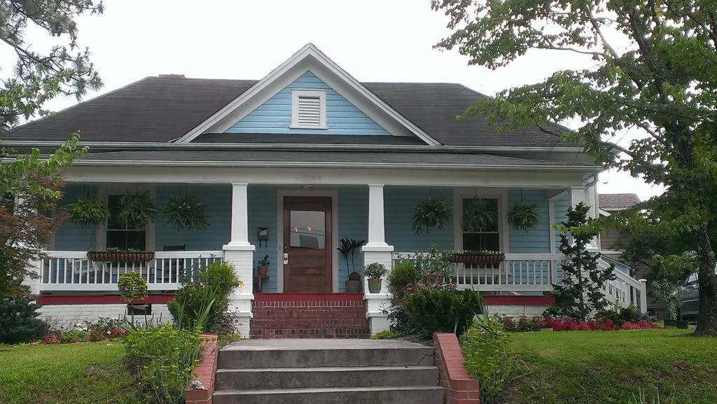 Blue house white trim light blue house with black roof and wood stained door and white trim - Black house with white trim ...