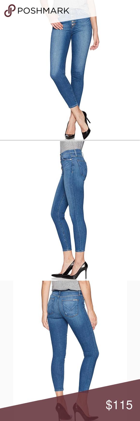 a121a65656e HUDSON Ciara High Rise Exposed Button Skinny Jeans NWT Hudson Ciara High  Waisted Super Skinny Exposed