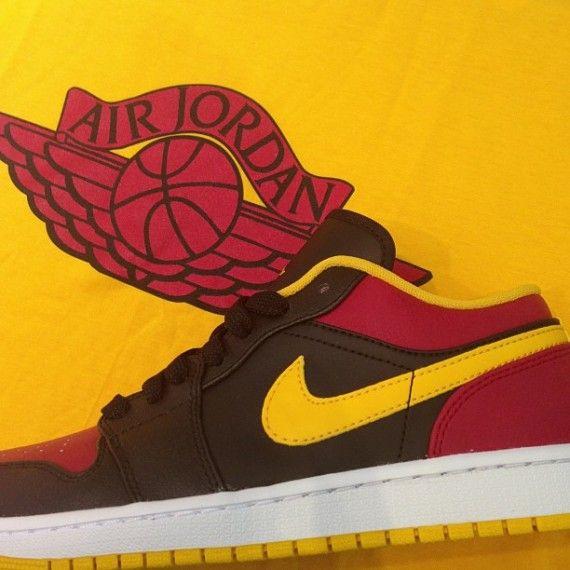 Air Jordan 1 Low - Black - Red - Yellow