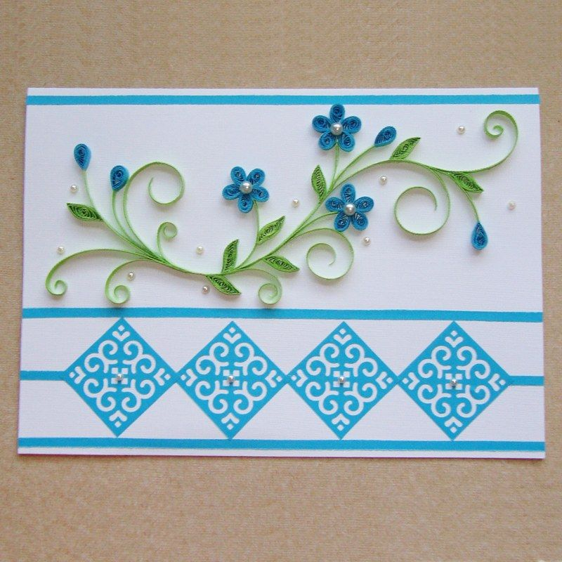 Beautiful Hand Making Cards Buscar Con Google Quilling