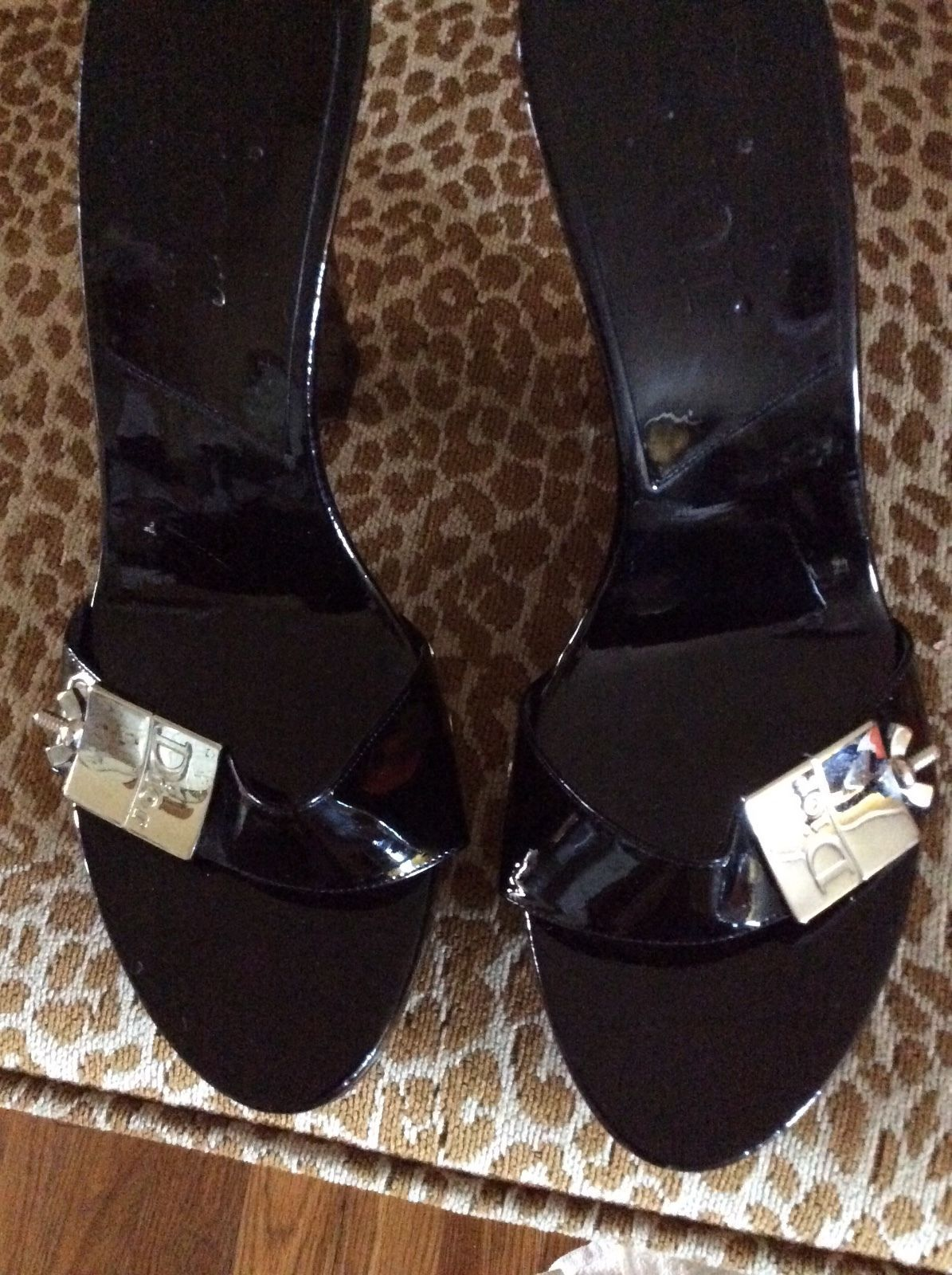 Clothing, Shoes & Accessories Christian Dior Black Wedge Heel Heels Size 36 Women's Shoes
