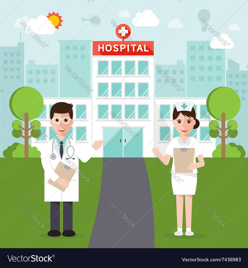 Medical and hospital flat design Royalty Free Vector Image