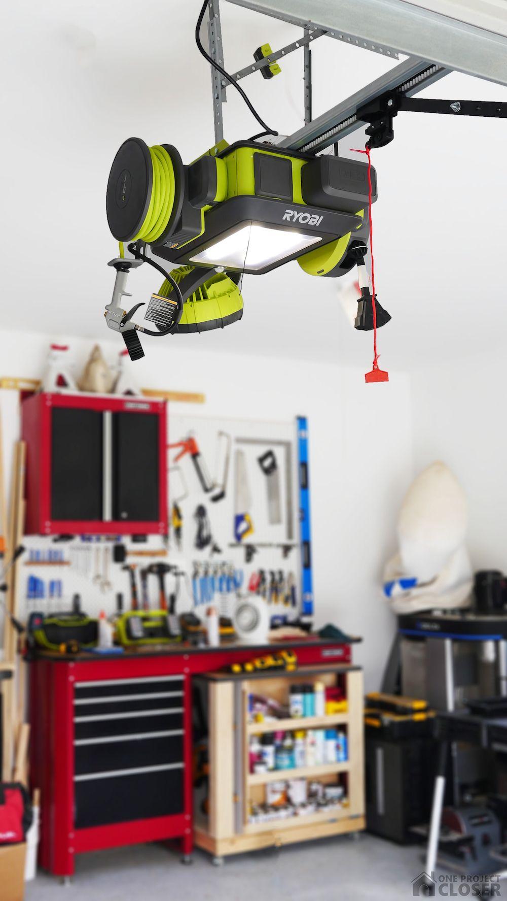 Ryobi Garage Door Opener Review Garage Door Opener Garage Door Opener Remote Garage Organization