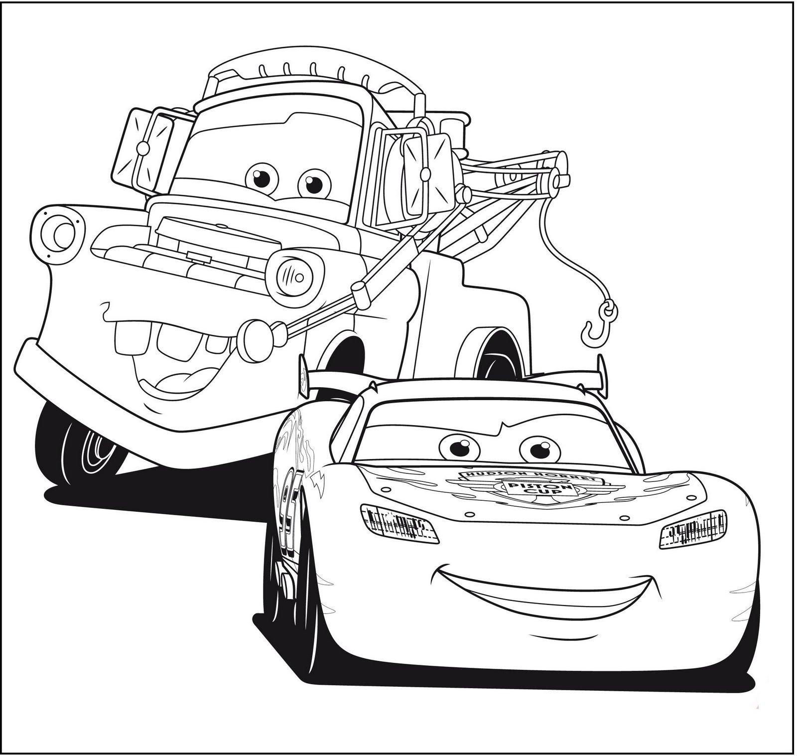pl]Kolorowanki z bajki Auta - Cars dla dzieci do wydruku[:]  Cars