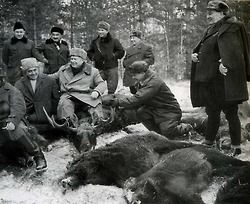 Nikita Khrushchev, Josip Broz Tito and Alexei Kosygin hunting.