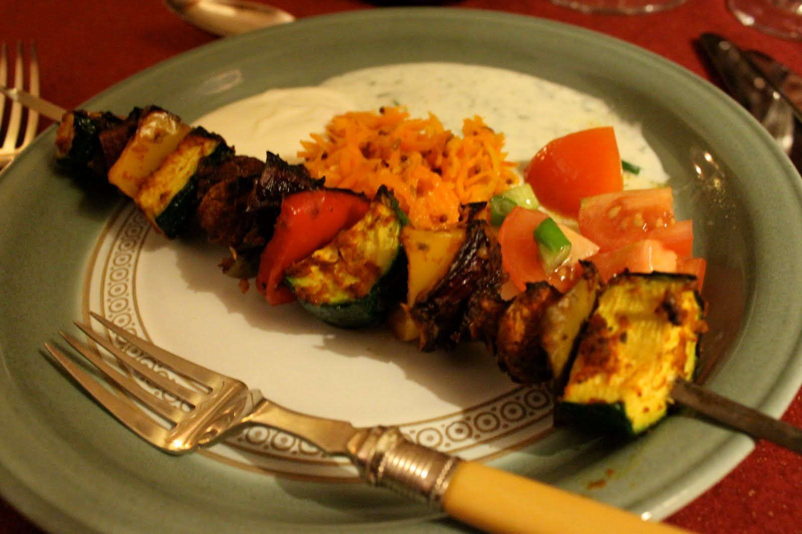 vegetable Kebab from Joginder's Supper club hosted by Rani and Saira. Find out more about this supper club on CookoutChef.com #cookoutchef