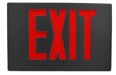 Exit Sign Can Be Red Or Green Depending Where You Are Exit Sign Signs Exit