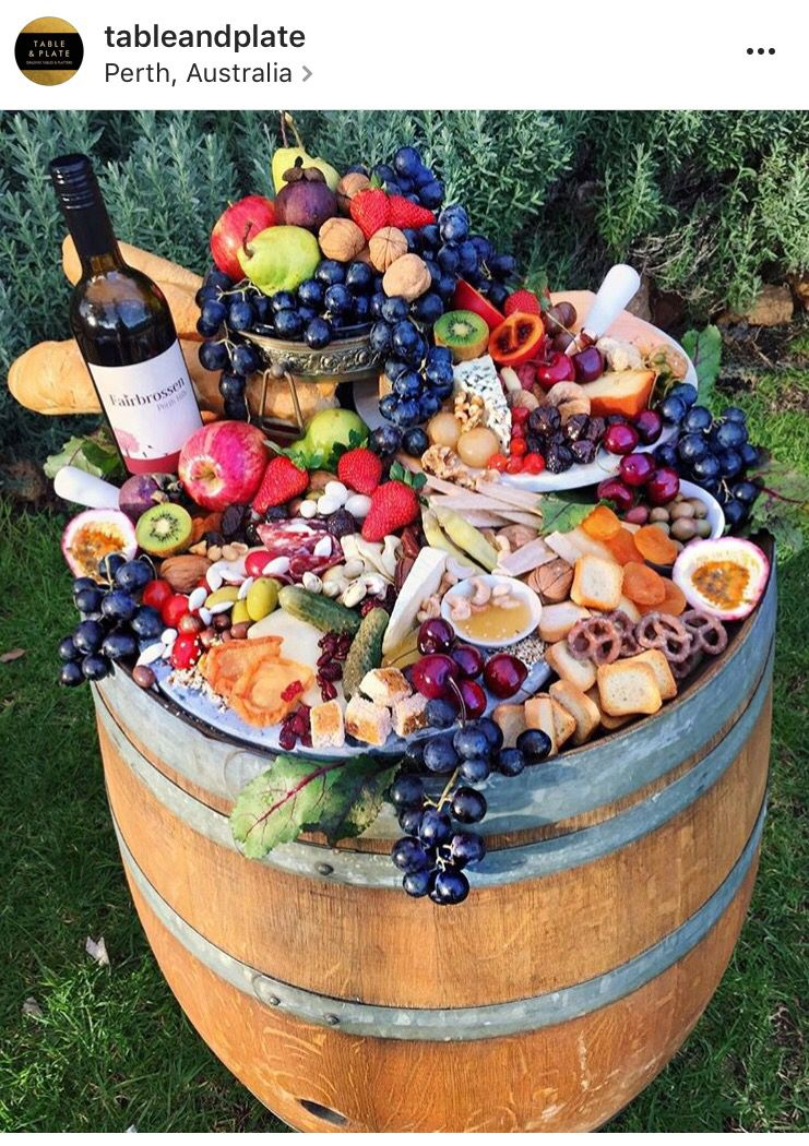 Is there more than one barrel at the Farm? Maybe do a couple of these instead of one long table? #charcuterieboard