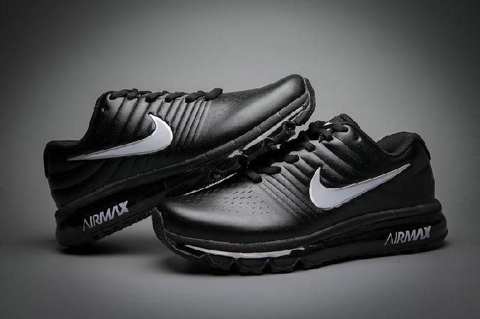 factory price a6eef 58afc Nike Air Max 2017 Leather Black White Logo Shoes(36-46) Comfortable Nike  Air Max 2017 Leather Black White Logo Shoes(36-46)