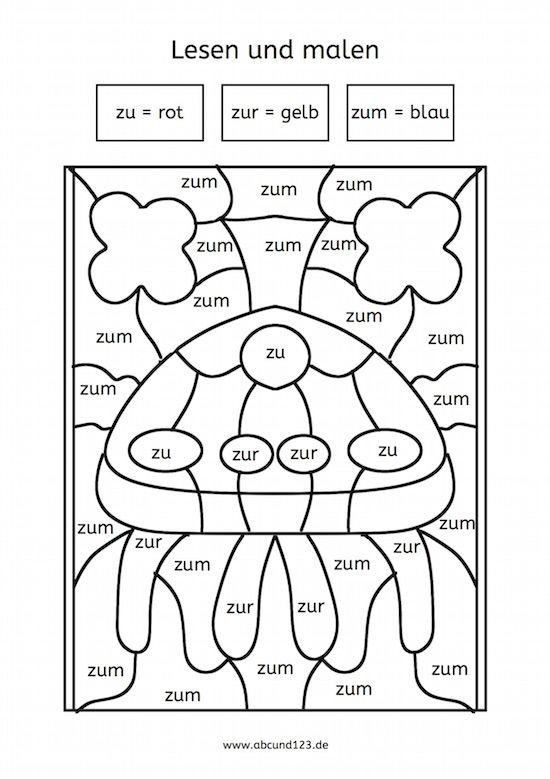kleine w rter lesen und malen freiarbeitsmaterial schule arbeitsbl tter deutsche schule. Black Bedroom Furniture Sets. Home Design Ideas