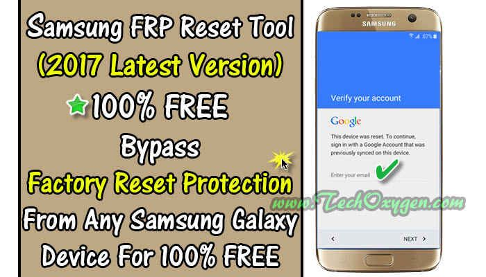 Samsung FRP Reset Tool 2 4 7 100% Free Without Combination