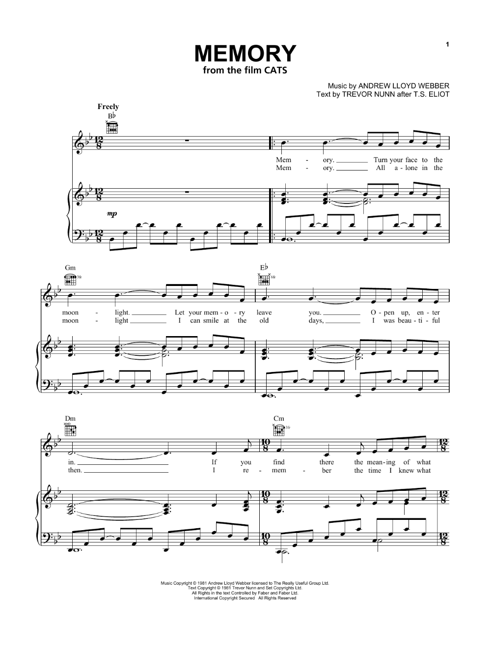 Jennifer Hudson Memory From The Motion Picture Cats 434824 In 2020 Sheet Music Sheet Music Notes Jennifer Hudson Songs