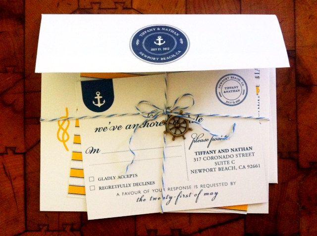 nautical wedding invitation collection marry pinterest