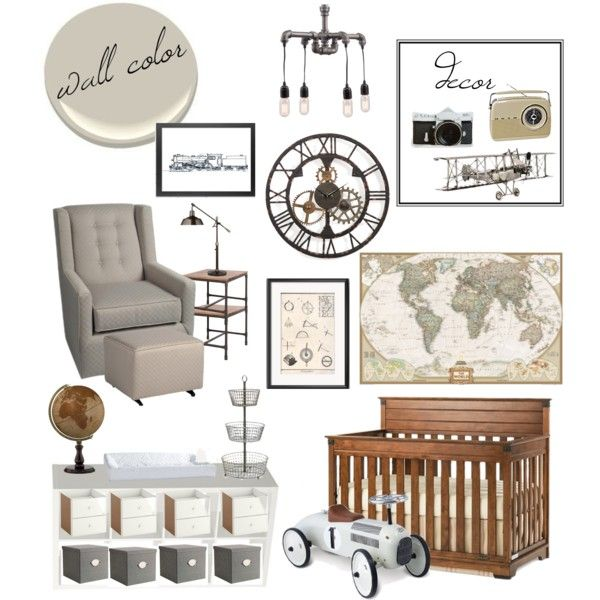 Vintage Industrial Nursery By Kailyn Marie 1 On Polyvore Featuring Interior