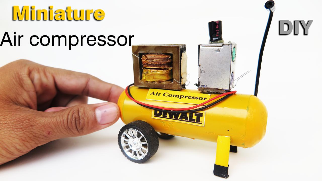 DIY Realistic Miniature DEWALT Air Compressor dollhouse
