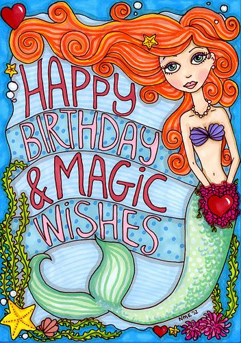 mermaid birthday wishes