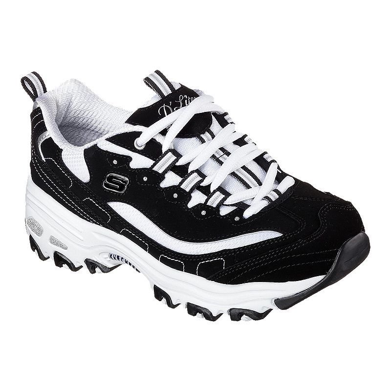 SKECHERS D'Lites New Retro Women's Shoes BlackWhite