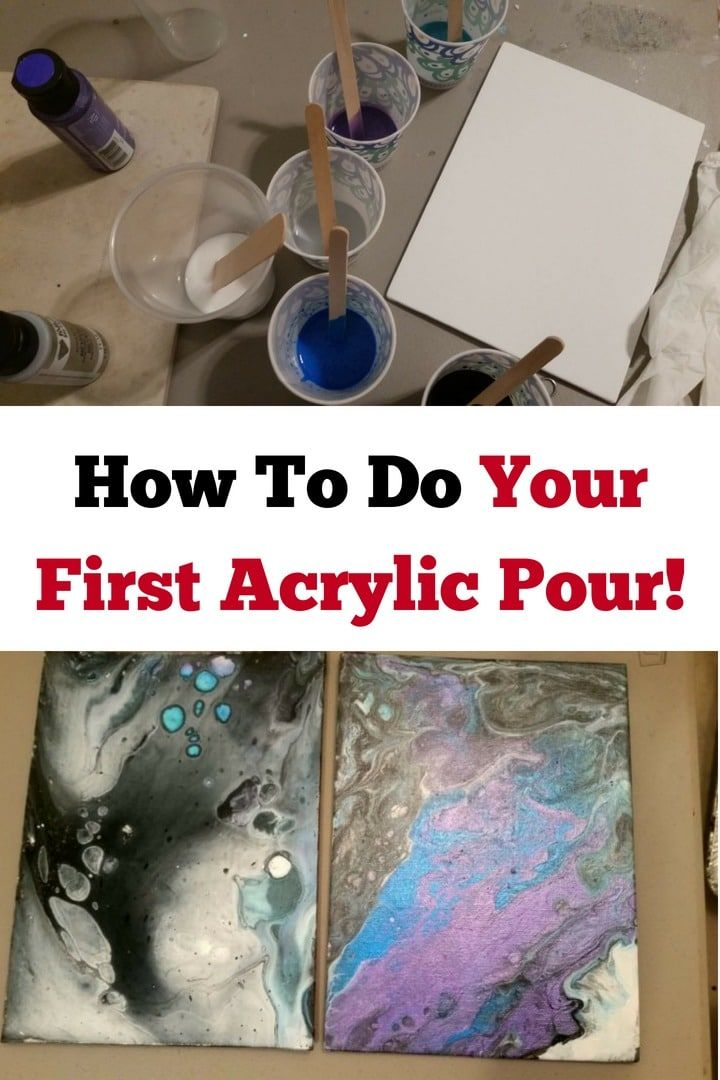 How to do your first acrylic pour step by step guide