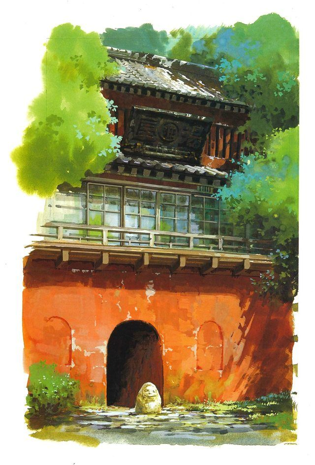 Spirited Away Background Art And Concept Art Studio Ghibli Art Anime Scenery Studio Ghibli Background