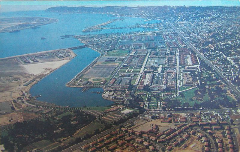 NTC San Diego Aerial 1960s Camping san diego, Navy day
