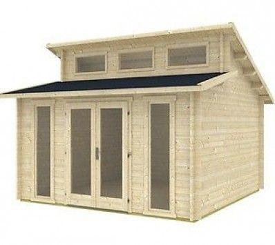 Ez Log Structures Langeoog Cabin Kit Shed Pool Garden Tiny