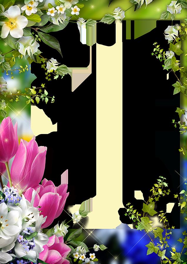 Днем, рамка для поздравления весна