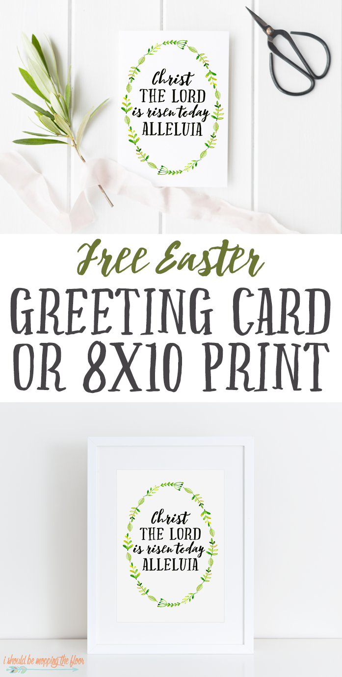 Free Printable Watercolor Easter Card And 8x10 Print Apartment