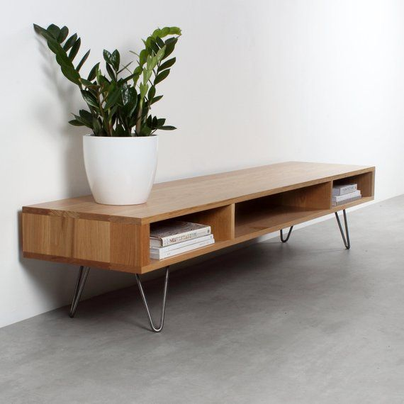 Best Mid Century Wide Tv Stand Or Coffee Table Minimalist 400 x 300