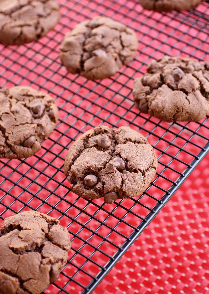Double Chocolate Peanut Butter Cookies Recipe Chocolate Peanut