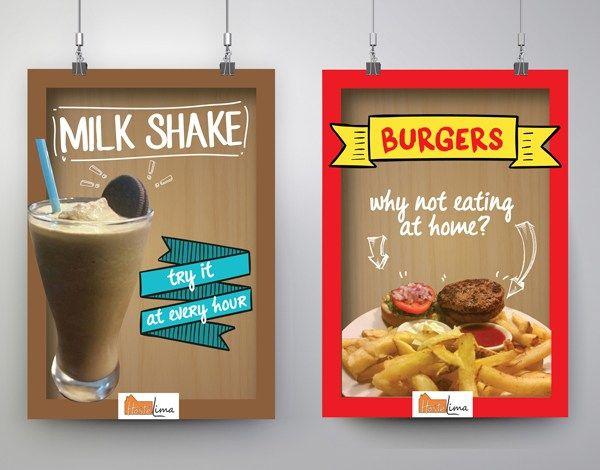 Cartelería/Posters para el bar/restaurante de Hostelima