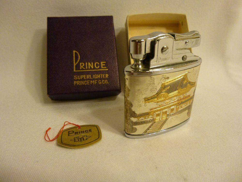 Prince BYC Lighter Japan Scene Mt Fuji vintage in Box UNSTRUCK #Lighter #VintageLighter