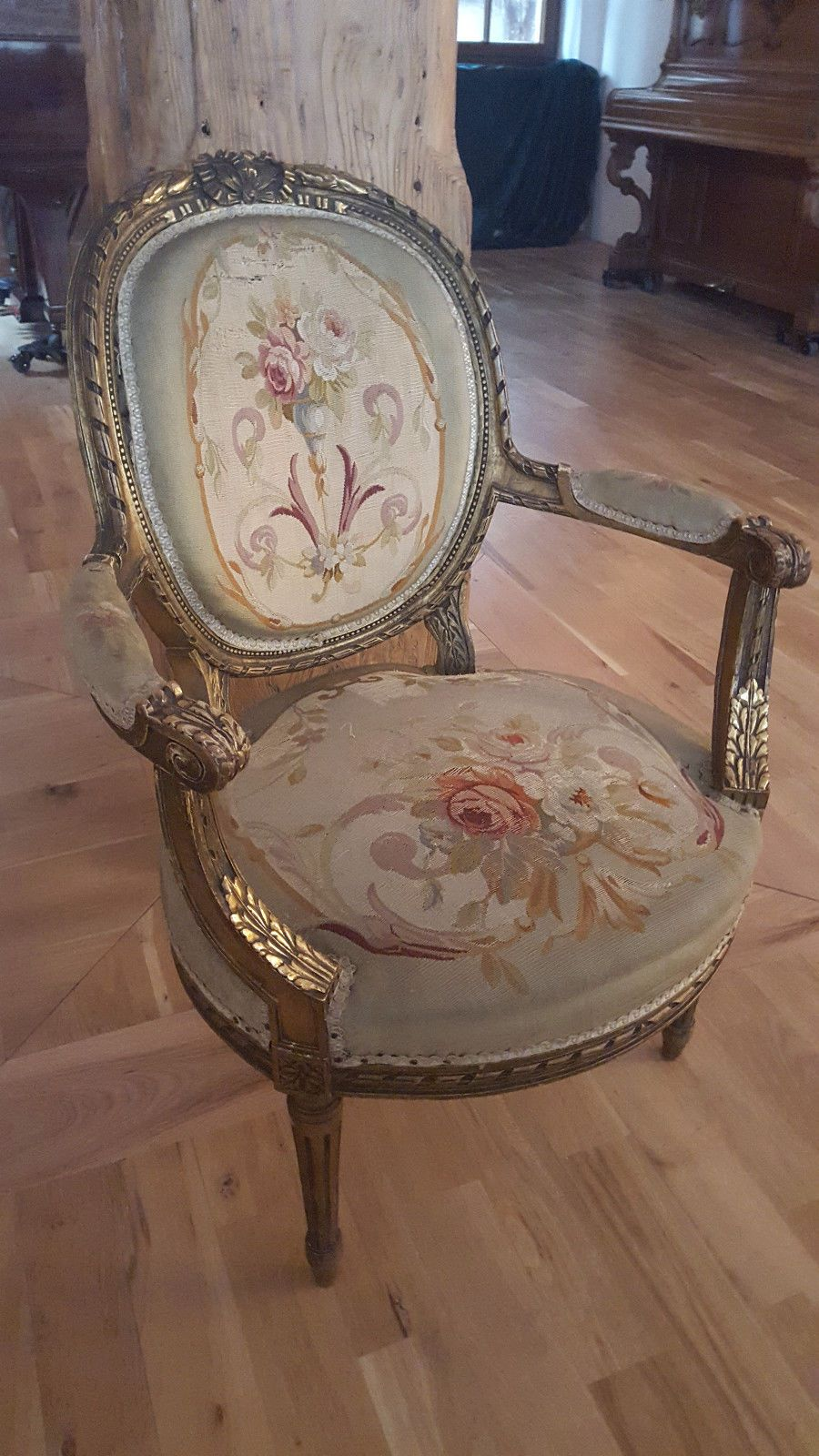 Sessel Klassizismus Sessel 1830 Set Armchair Aubusson Antique French Louis Xi