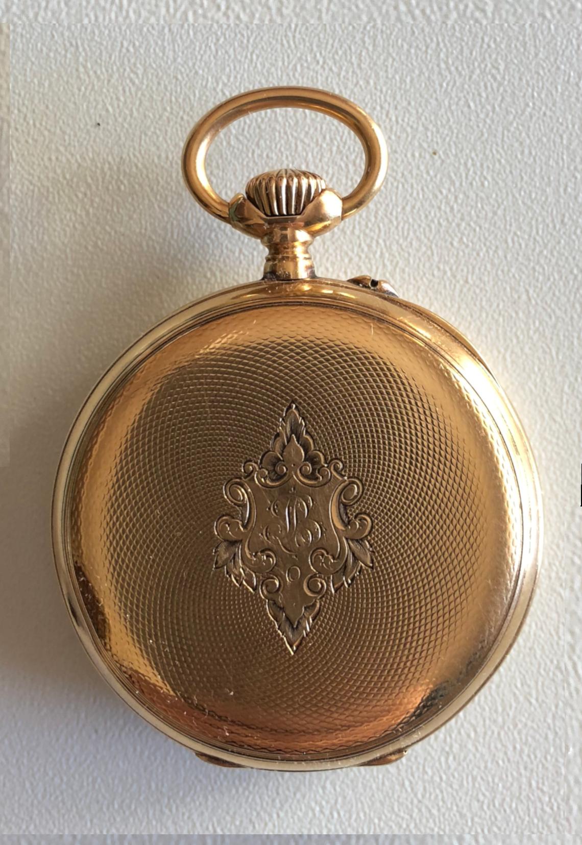 Reloj estilo saboneta para dama, del maestro relojero suizo
