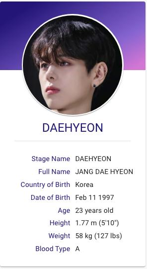 Jang Daehyeon Wei Kpop Profiles Singer Kpop Groups